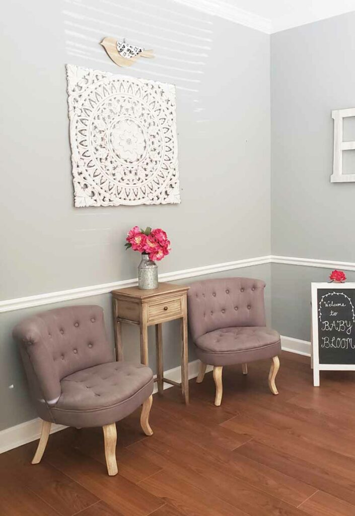 Baby Bloom Ultrasound Studio in Jacksonville, Florida Lobby